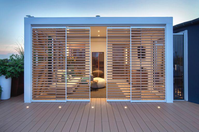 Ampliare la casa verso l'esterno con le pergole bioclimatiche